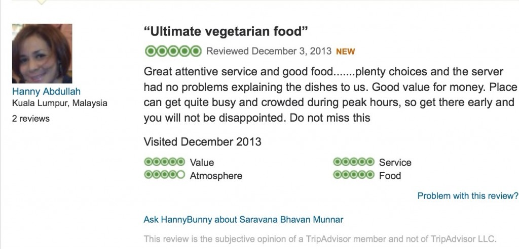Buat review di tripadvisor