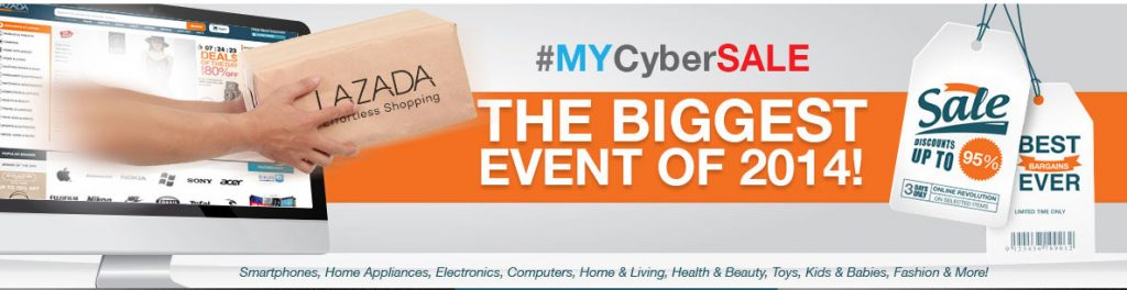 #MYCyberSALE Lazada Malaysia, The Biggest Event Of 2014 #MyCyberSALE