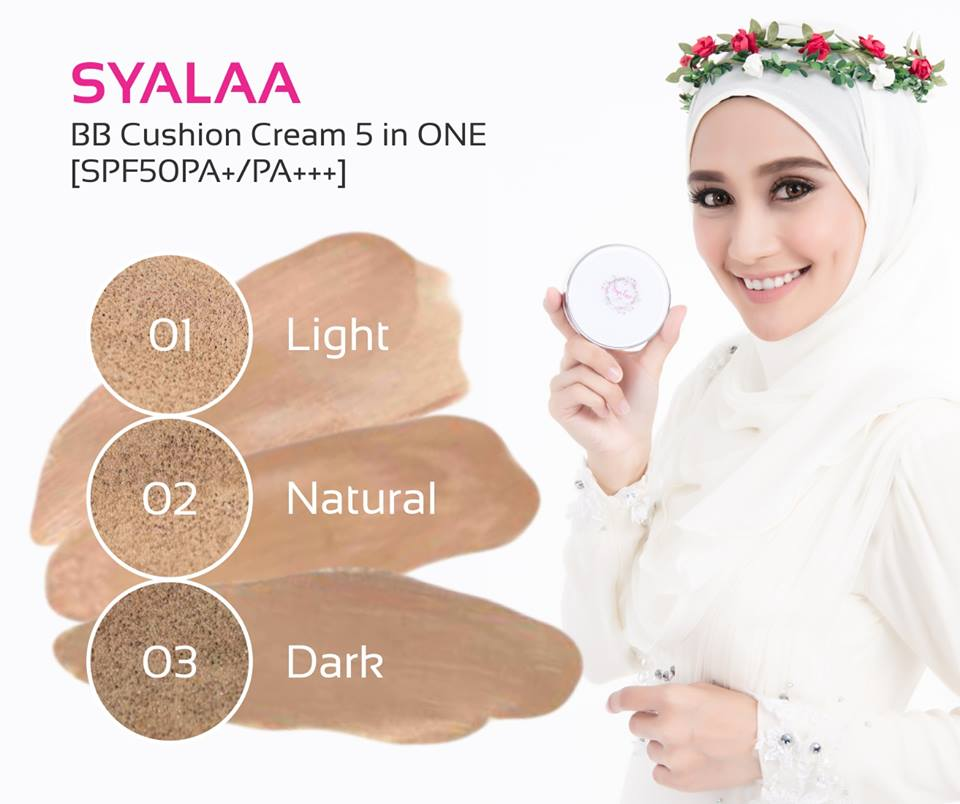 Pilihan Tone Warna SyaLaa, SyaLaa BB Cushion Cream