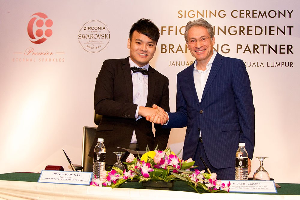 Signing Ceremony Official ingredient branding partner, Swarovski Zirconia, C88 premier