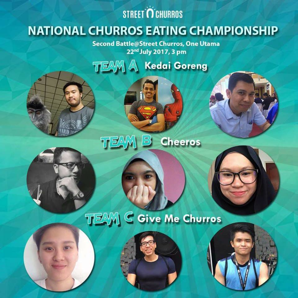 National Churros Eating Championship 2017, Street Churros, Street Churros Malaysia, One Utama, Pertandingan Makan Churros, Cornery - the popcorn gallery, Softree, Jom Churros, Makan Churros, Churros Malaysia