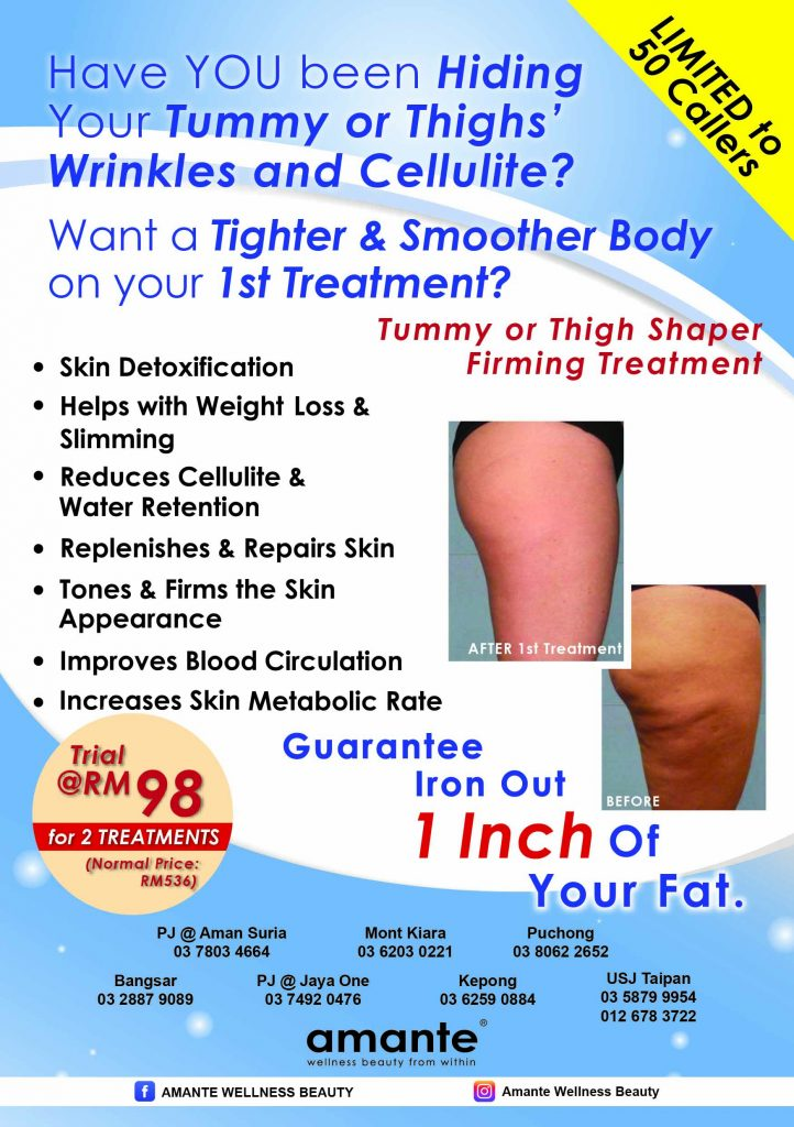 Tummy or thigh body shaper firming