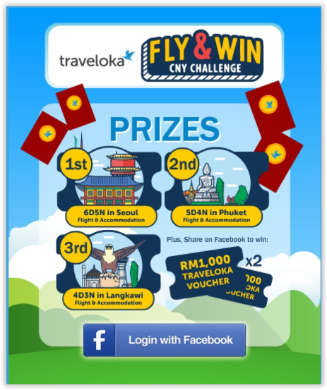 TRAVELOKA FLY & WIN CNY CONTEST , CNY 2018 Contest, Traveloka