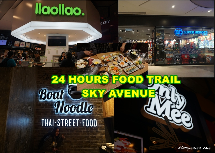 24 Hours Food Trail, 24 Hours Food Trail Di Sky Avenue, Boat Noodle, DC Comics Super Heros Cafe, Food Trail, Genting Highlands, IIAOIIAO, Only Mee, resorts World Genting, Sushi Zenmai