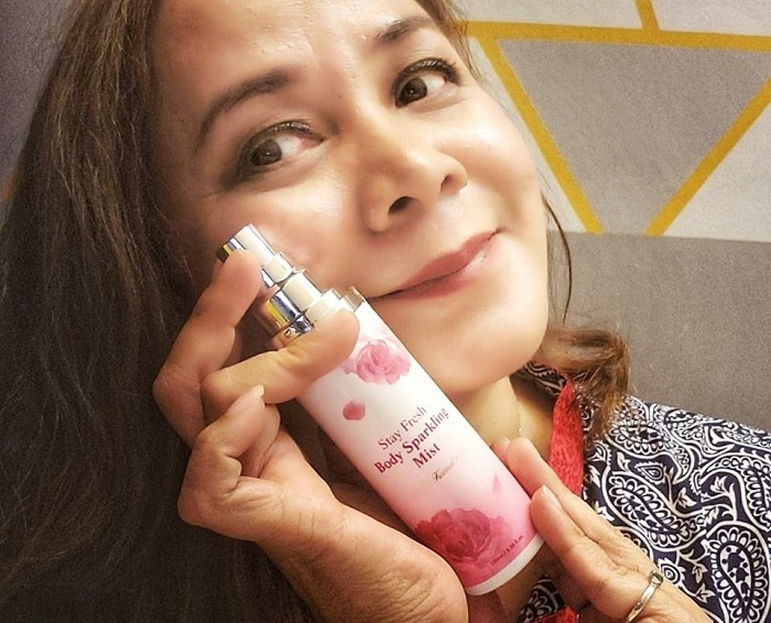 Althea Stay Fresh Body Sparkling Mist Oleh Titi Kamal X Althea