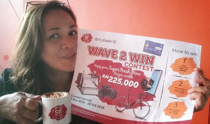 sfcoffee, MyDebit, Wave2Win, SFCoffeexMyDebit, hadiah bernilai RM225000, peraduan Wave2Win, San Francisco Coffee, Gila Kopi