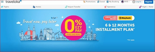 "Traveloka ""monthly installment"""